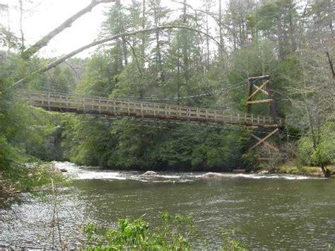 Swinging bridge on the toccoa river fannin county jpg 640x480