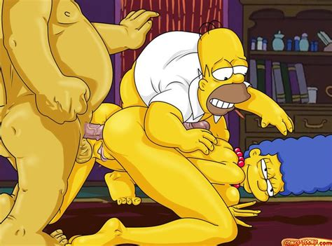 Simpsons hentai homer fucks marge jpg 750x556